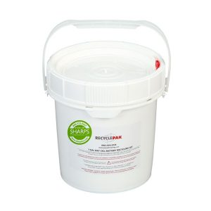 1-GALLON DRY CELL BATTERY RECYCLING PAIL - SHARPS-949069