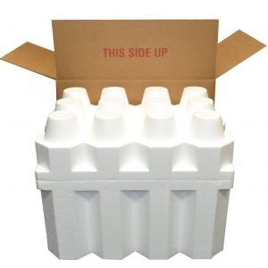 12 Bottle Styrofoam Wine/Champagne Shipping Cooler and Box (1 Set)