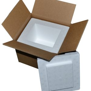 "8 X 7 X 6"" Insulated Styrofoam Shipping Cooler and Box Kit (1 Cooler)"