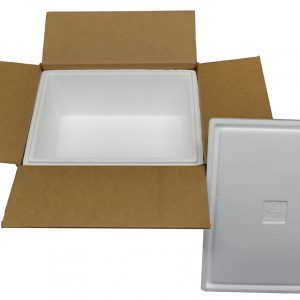 "16 X 12 X 8"" Insulated Styrofoam Shipping Cooler and Box Kit (1 Cooler)"