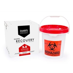 2.5-GALLON SHARPS RECOVERY SYSTEM - SHARPS-12500