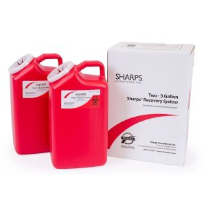 TWO 3-GALLON SHARPS RECOVERY SYSTEM - SHARPS-13002
