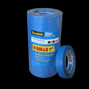 3M #2090 1X60 BLUE MASKIING TAPE  36/CASE