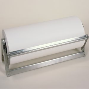 "24"" Stainless Steel - All In One Paper Roll Dispenser - Serrated Blade - Bulman-A503-24"
