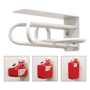 FRONT WALL MOUNT BRACKET FOR 1, 2 OR 3-GALLON SHARPS CONTAINER - SHARPS-50004