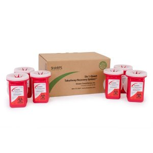 SIX 1-QUART TAKEAWAY RECOVERY SYSTEM - SHARPS-80106