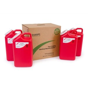 FOUR 3-GALLON TAKEAWAY RECOVERY SYSTEM - SHARPS-83004