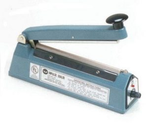 "8"" Impulse Poly Bag Hand Sealer 8 mil thickness 5mm width 600W - AIE-205"
