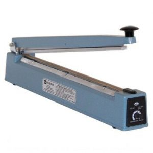 "12"" Impulse Poly Bag Hand Sealer 6 mil thickness 2mm width 500W - AIE-300"