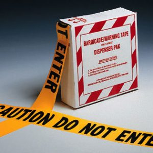 """3"""" x 1000' Yellow Barricade and Warning Tape - """"Caution Do Not Enter"""" Message (3 mil)"""