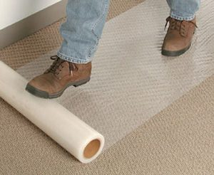 """24"""" x 200' Carpet Protection Tape - Clear (2 mil)"""