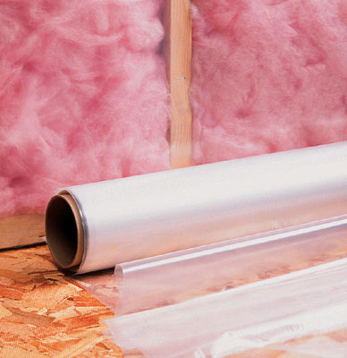 3' x 100' Low Density Poly Construction Film - Clear (4.5 mil)