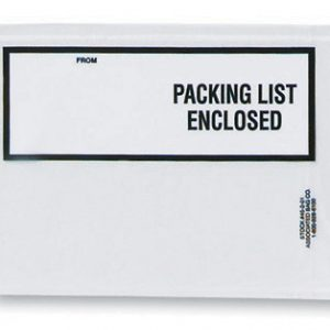 "4-1/2"" x 6"" Back-Loading Printed Packing List Envelope with White Writing Area - ""Packing List Enclosed"""