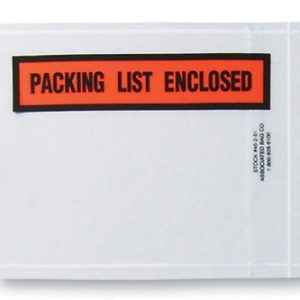 """4-1/2"""" x 5-1/2"""" Back-Loading Printed Packing List Envelope - """"Packing List Enclosed"""""""