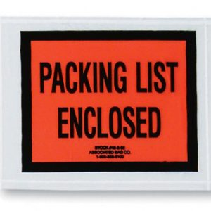 "4-1/2"" x 5-1/2"" Back-Loading Printed Packing List Envelope - ""Packing List Enclosed"""