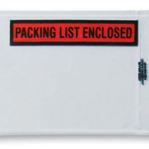 "4-1/2"" x 6"" Back-Loading Printed Packing List Envelope - ""Packing List Enclosed"""