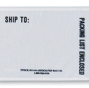 "4-1/2"" x 6"" Back-Loading Printed Packing List Envelope - ""Ship to: & Packing List Enclosed"""