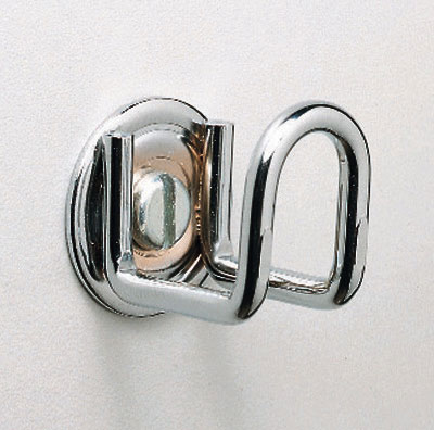 Chrome Wall Hook Dispenser for Tote Bags with Die-Cut Handle
