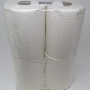 White Paper Towel Rolls Retail (4 Rolls/Pack)