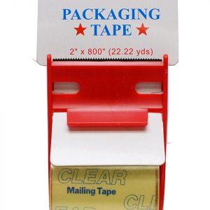 """Clear Tape W/ Dispenser 2"""" X 800"""" (12 Rolls)"""
