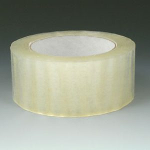 "2"" x 330' Acrylic Adhesive Carton Sealing Tape - Clear (2.1 mil)"
