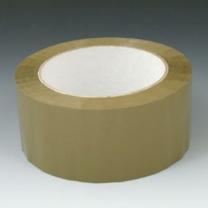"2"" x 165' Acrylic Adhesive Carton Sealing Tape - Tan (2.1 mil)"