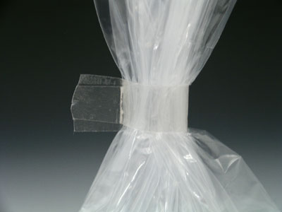 "3/8"" x 180 yds. Bag Closing Tape - Clear (2.4 mil)"