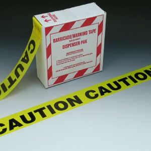"""3"""" x 1000' Yellow Barricade and Warning Tape - """"Caution Caution Caution"""" Message (3 mil)"""