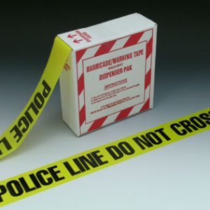 """3"""" x 1000' Yellow Barricade and Warning Tape - """"Police Line Do Not Cross"""" Message (3 mil)"""