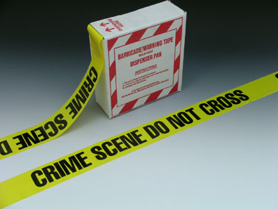 "3"" x 1000' Yellow Barricade and Warning Tape - ""Crime Scene Do Not Cross"" Message (3 mil)"