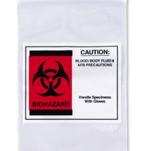 "6"" x 9"" Infectious Waste/Biohazard Transport Poly Bag - Clear (2 mil)"