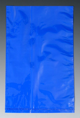"""4"""" x 6"""" Colored Low Density Flat Poly Bag - Blue (2 mil)"""