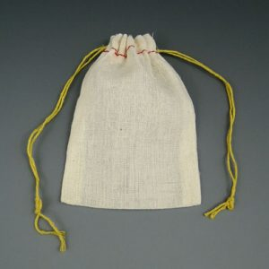 """2-3/4"""" x 4"""" Cloth Parts Bag with Double Drawstring"""
