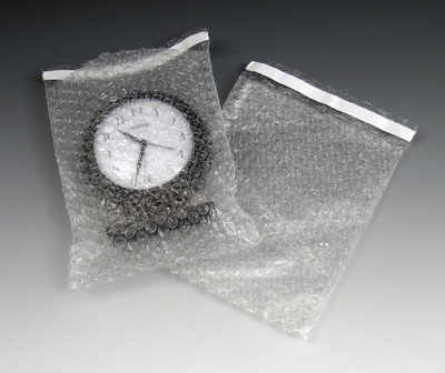 "4"" x 5-1/2"" Pregis Self-Sealing Bubble Pouches (3/16"")"