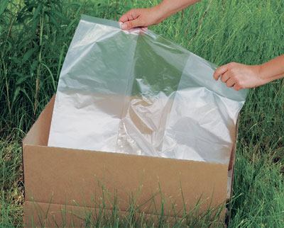 """15"""" x 9"""" x 23"""" Environmentally Friendly Low Density Gusseted  Poly Liner - Clear (1 mil)"""