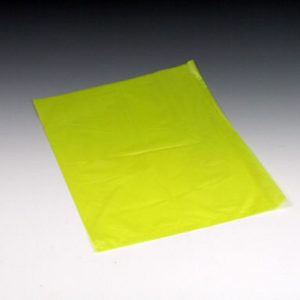 """10"""" x 13"""" High Density Embossed Flat Merchandise Bag without Die-Cut Handle - Yellow (.6 mil)"""