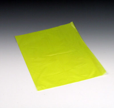 "10"" x 13"" High Density Embossed Flat Merchandise Bag without Die-Cut Handle - Yellow (.6 mil)"