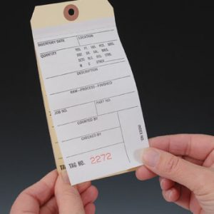 """6-1/4"""" x 3-1/8"""" No. 8 Two-Ply Paper Inventory Tag (# 000-499) (500 Tags)"""