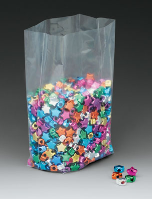 "10"" x 8"" x 12"" Low Density Gusseted Poly Bag (1.5 mil)"