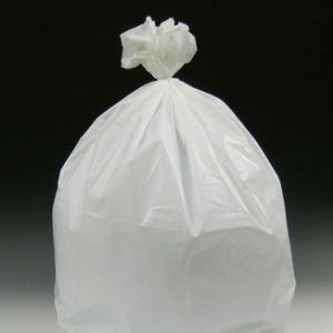 """15"""" x 9"""" x 32"""" Low Density Gusseted Poly Liner - White (1 mil)"""
