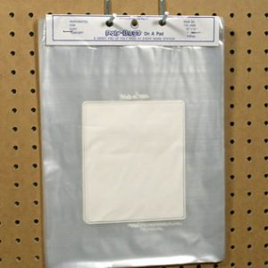"""10"""" x 12"""" Write-on® Flat Poly Bag - Perforated on a Pad (1.5 mil) (50 Bags per Pad; 10 Pads per Bundle)"""
