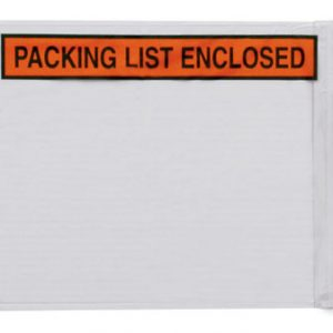 "10"" x 12"" Back-Loading Printed Packing List Envelope - ""Packing List Enclosed"""