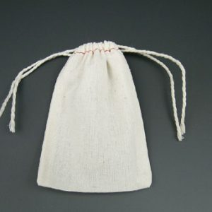 """2-3/4"""" x 4"""" Economy Cloth Parts Bag with Double Drawstring"""