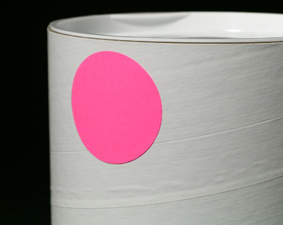 """2"""" Circle Fluorescent Pink Colored Inventory Labels (500 Labels)"""