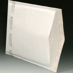 "#000 4"" X 8"" White Bubble Mailers (Pack of 25)"