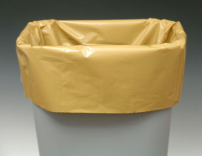 """15"""" x 9"""" x 23"""" Linear Low Density Gusseted Poly Liner - Buff (.8 mil)"""