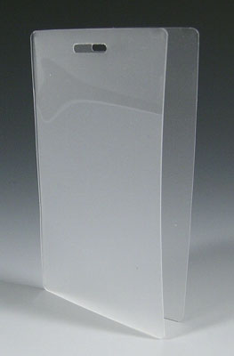 """2-1/2"""" x 4-1/4"""" Laminating Pouch with Slot (5 mil)"""