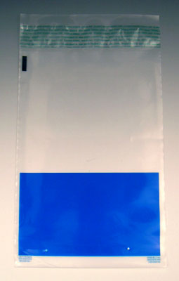 """9"""" x 14"""" Metallocene Color-Coded Coin/Tamper-Evident Bags - Blue (5 mil)"""