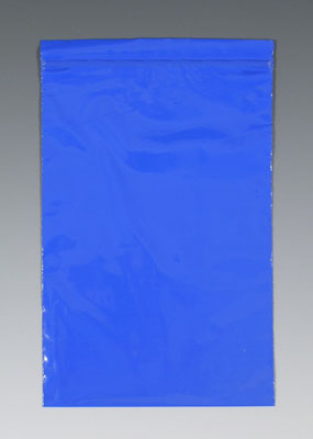 """3"""" x 3"""" Our Own Brand Colored Zipper Bag - Blue (2 mil)"""