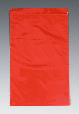 """3"""" x 3"""" Our Own Brand Colored Zipper Bag - Red (2 mil)"""